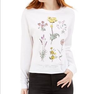 REBELLIOUS ONE flower graphic T shirt